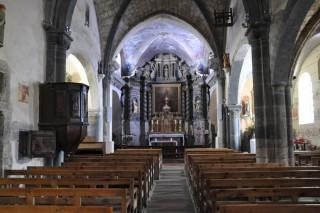 Interieur de l'eglise Saint Marcellin de la Salle