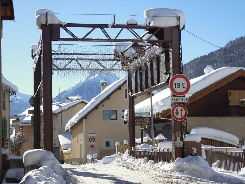 Le Pont levis en hiver